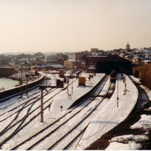 snow picture penzance station